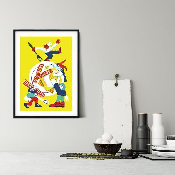 alice-piaggio-poster-fine-art-print-stampa-home-illustrazione-illustration-gift-casa-regalo-food-bacon-breakfast-2