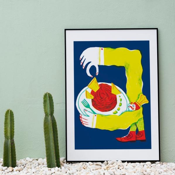 alice-piaggio-poster-fine-art-print-stampa-home-illustrazione-illustration-gift-casa-regalo-food-chef-tartare-2