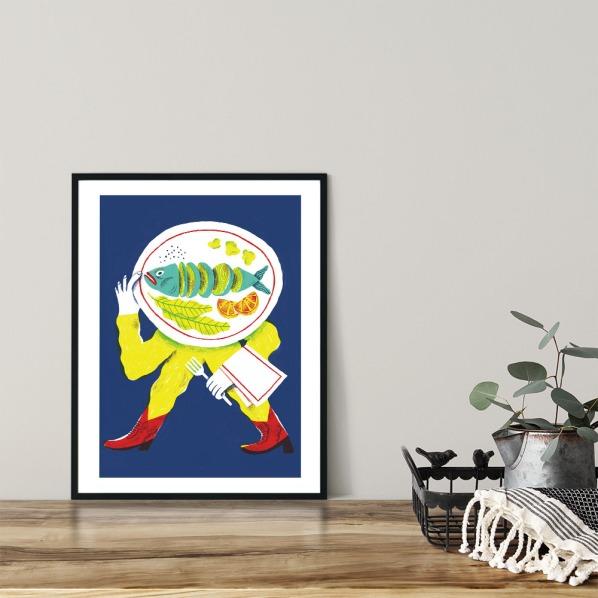 alice-piaggio-poster-fine-art-print-stampa-home-illustrazione-illustration-gift-casa-regalo-food-pesce-fish-2